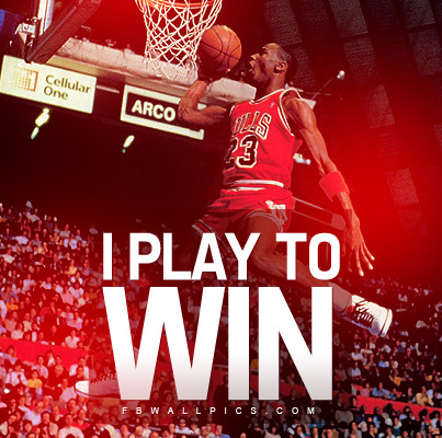 Michael Jordan I Play To Win Quote Facebook picture