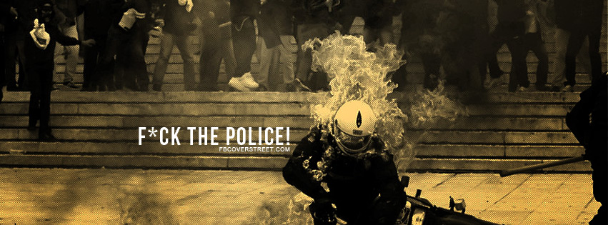 Cop On Fire Facebook cover