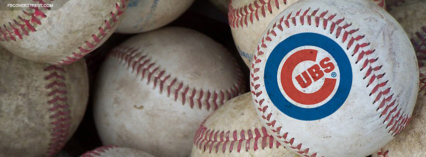 Chicago Cubs Baseballs Facebook Cover