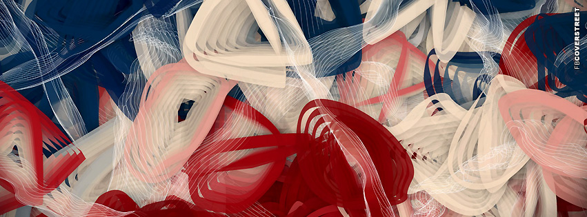 Red White and Blue America Abstract  Facebook Cover
