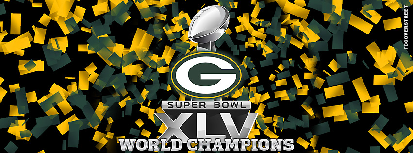 Green Bay Packers XLV World Champions Trophey  Facebook cover