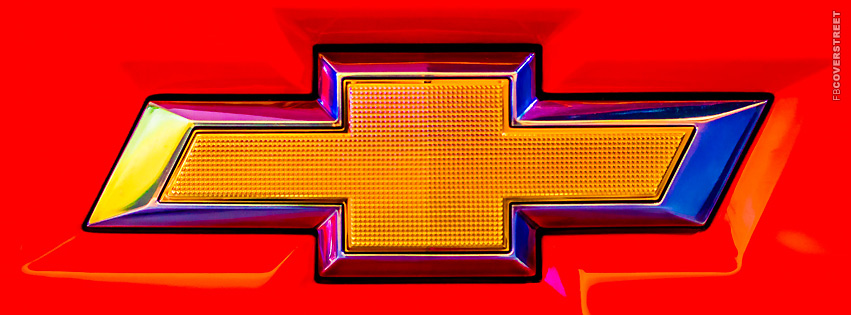 Chevy Emblem Red  Facebook Cover