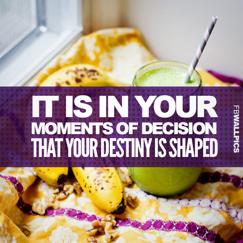 Healthy Decisions Fitness Quote Facebook picture