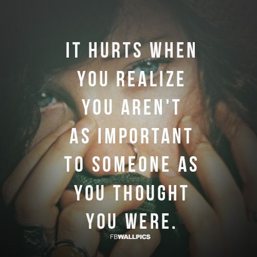 Not As Important As You Thought Heartbreak Girly Quote Facebook picture