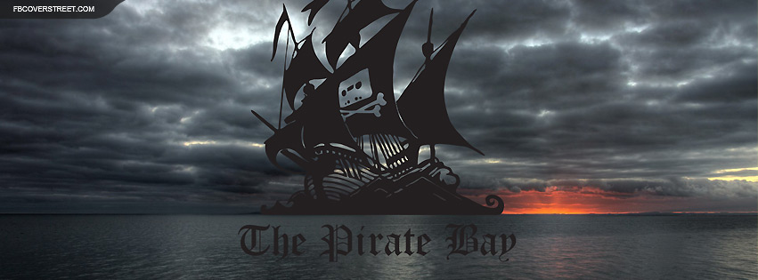 The Pirate Bay Stormy Sailing Facebook Cover