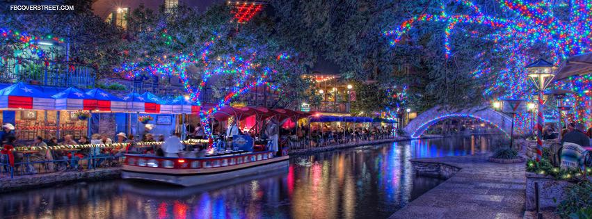 San Antonio Colorful Lights  Facebook cover