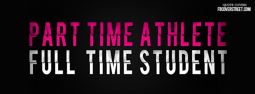Full Time Student Pink Facebook cover