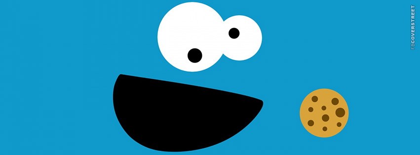 Cookie Monster Face Art  Facebook cover