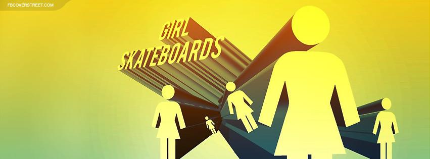 Girl Skateboards Video Logo Facebook cover