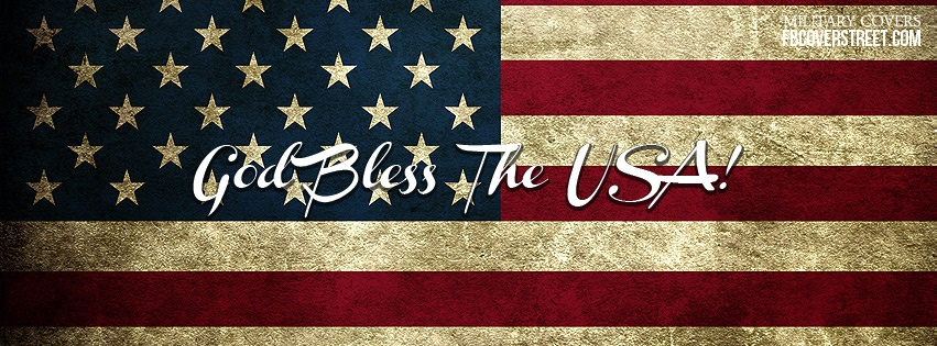 God Bless The USA Flag Facebook Cover