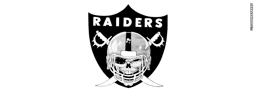 Oakland Raiders Skull Logo  Facebook cover