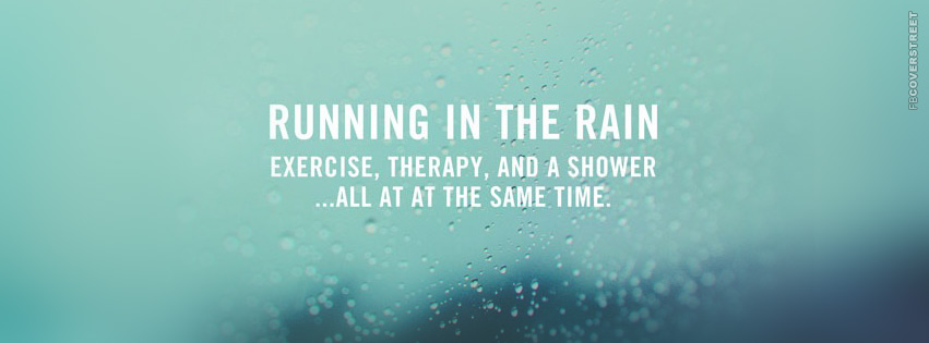 Running In The Rain  Facebook Cover