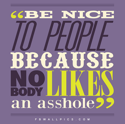 Be Nice To People Facebook Pic