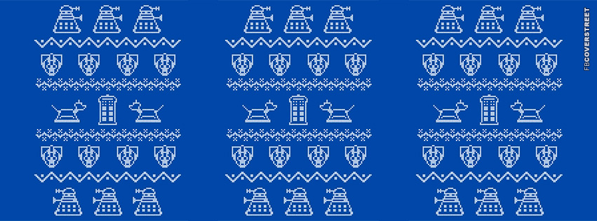 Dr Who Christmas Pattern  Facebook cover