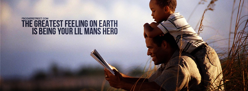 Being Your Lil Mans Hero Facebook cover