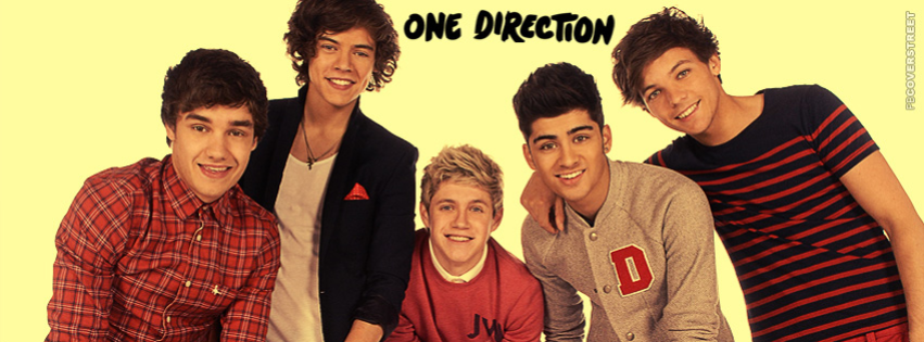 One Direction Band Photo Simple Facebook Cover