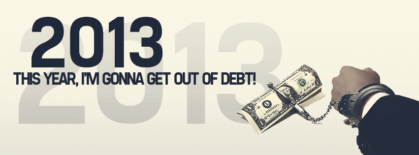 2013 Im Gonna Get Out of Debt Facebook cover