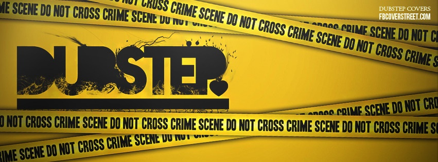Dubstep Caution Tape Facebook Cover