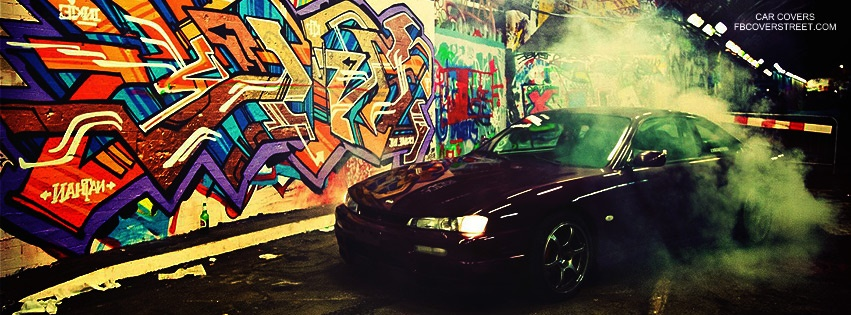 Drifting Nissan Facebook cover
