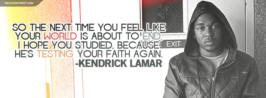 Kendrick Lamar Faith Lyrics Facebook cover