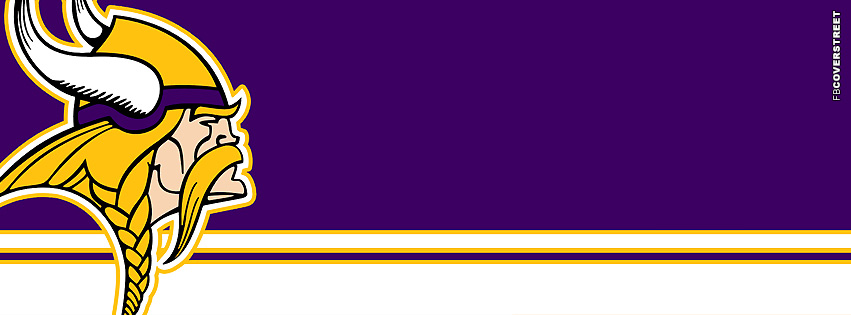 Minnesota Vikings Horizontal Striped Logo Facebook Cover