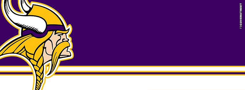 Minnesota Vikings Horizontal Striped Logo Facebook cover