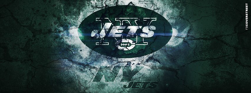New York Jets Grunged Logo  Facebook cover