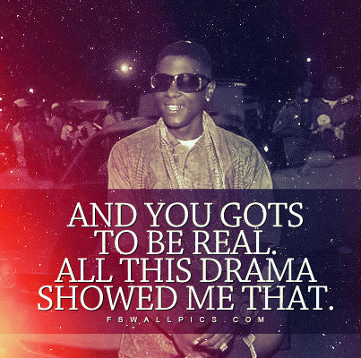 Lil Boosie Gotta Be Real Quote Facebook picture