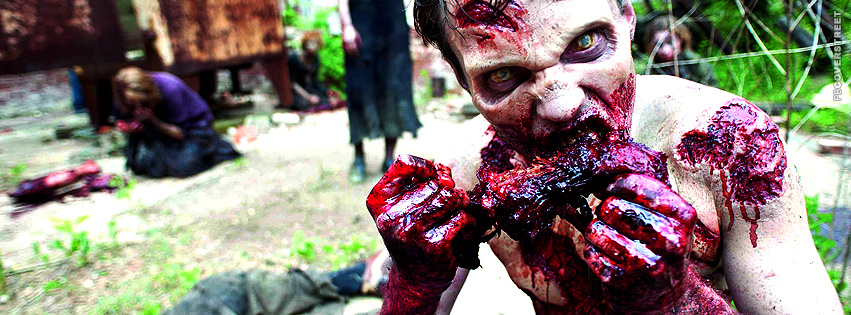 The Walking Dead Zombie Feasting  Facebook Cover