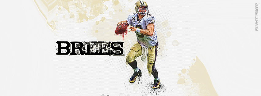 Drew Brees New Orleans Saints Artwork Facebook cover
