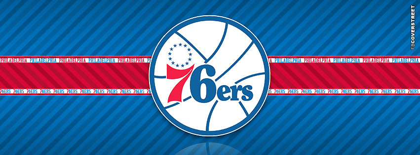 Philadelphia 76ers Striped Facebook cover