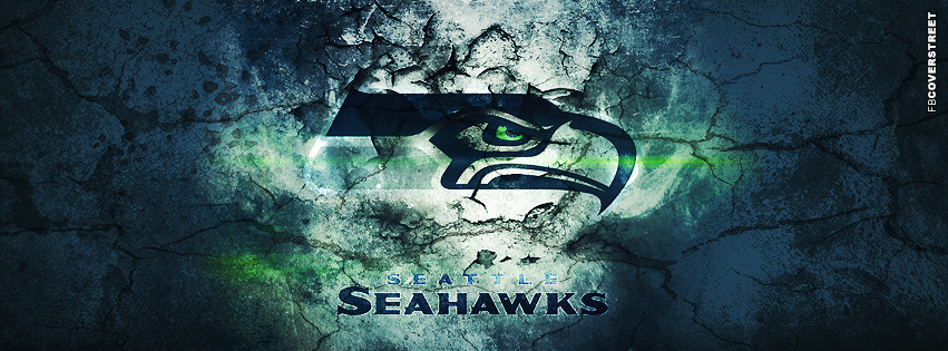 Seattle Seahawks Grunged Logo  Facebook Cover