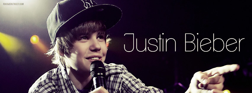 Justin Bieber Young Facebook cover