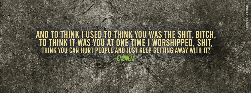 Eminem Marshall Mathers LP 2 Bad Guy Lyrics Quote 2  Facebook Cover