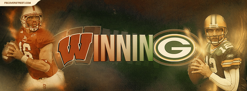 Green Bay Packers Wisconsin Badgers Winning Facebook Cover