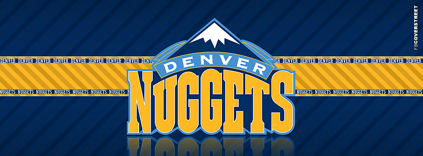 Denver Nuggets Striped Facebook cover
