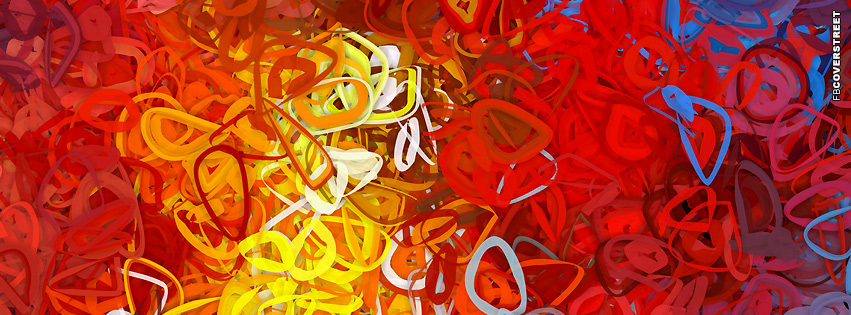 Vibrant Scribbles  Facebook Cover