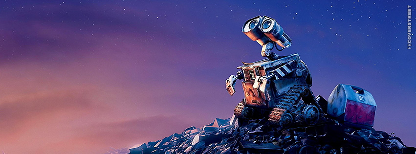 Wall E Staring Into Space Facebook Cover