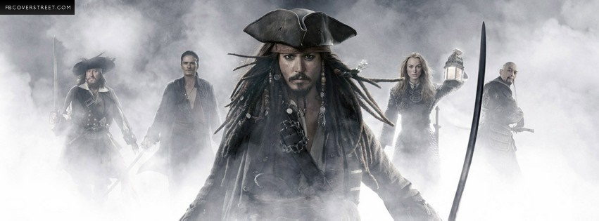 Pirates of The Caribbean 2 Facebook cover