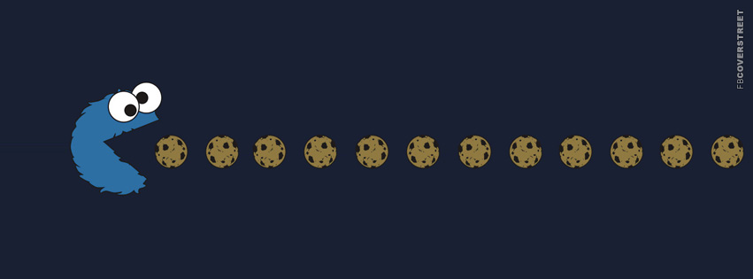 Cookie Monster Pacman  Facebook cover