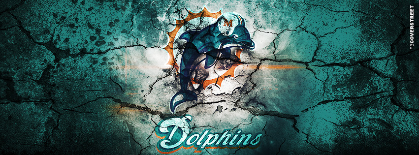 Miami Dolphins Grunged Logo  Facebook cover