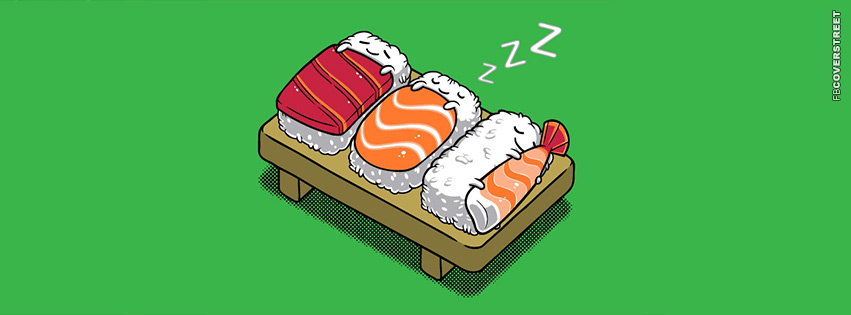 Sleeping Sushi  Facebook cover