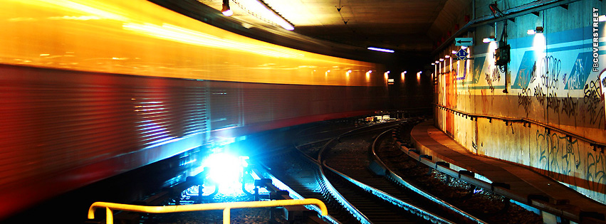 Metro Station Tracks  Facebook cover
