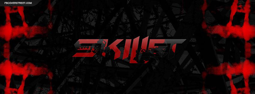 Skillet Red and Black Logo Facebook Cover
