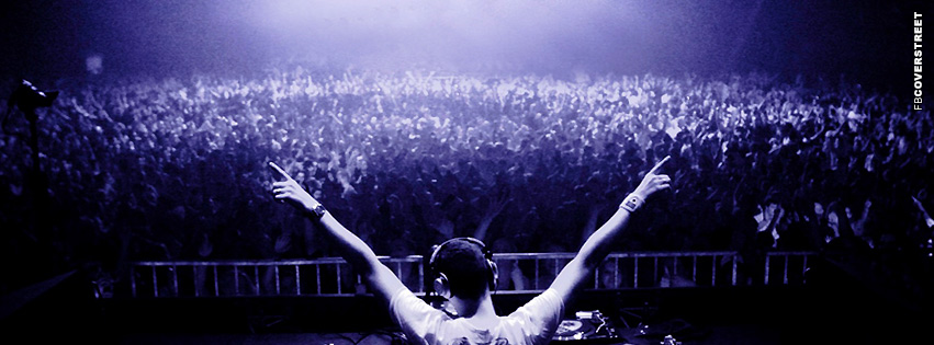 Throw Your Hands Up DJ Clubbing Crowd  Facebook cover
