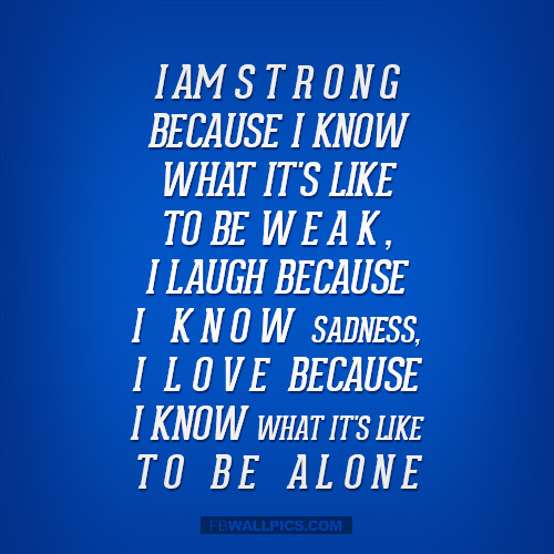 I Am Strong Because  Facebook picture