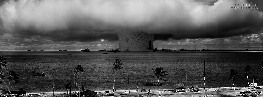 Atomic Bomb Mushroom Cloud Facebook Cover