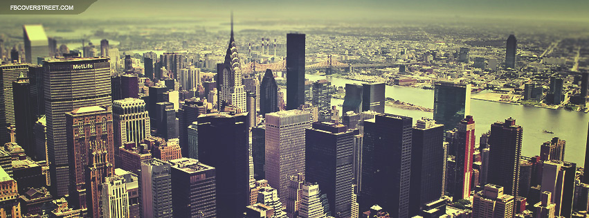New York City Aerial View 2 Facebook Cover