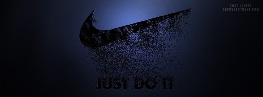 Nike Just Do It Decay Logo Facebook Cover