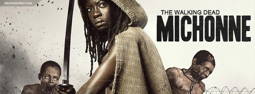 The Walking Dead Season 3 Michonne Facebook Cover